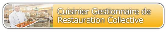 Formation Cuisinier Gestionnaire en Collectivité